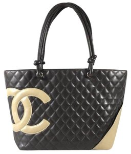 89f9896cb Chanel Bag Cambon Quilted Black Leather Tote - Tradesy