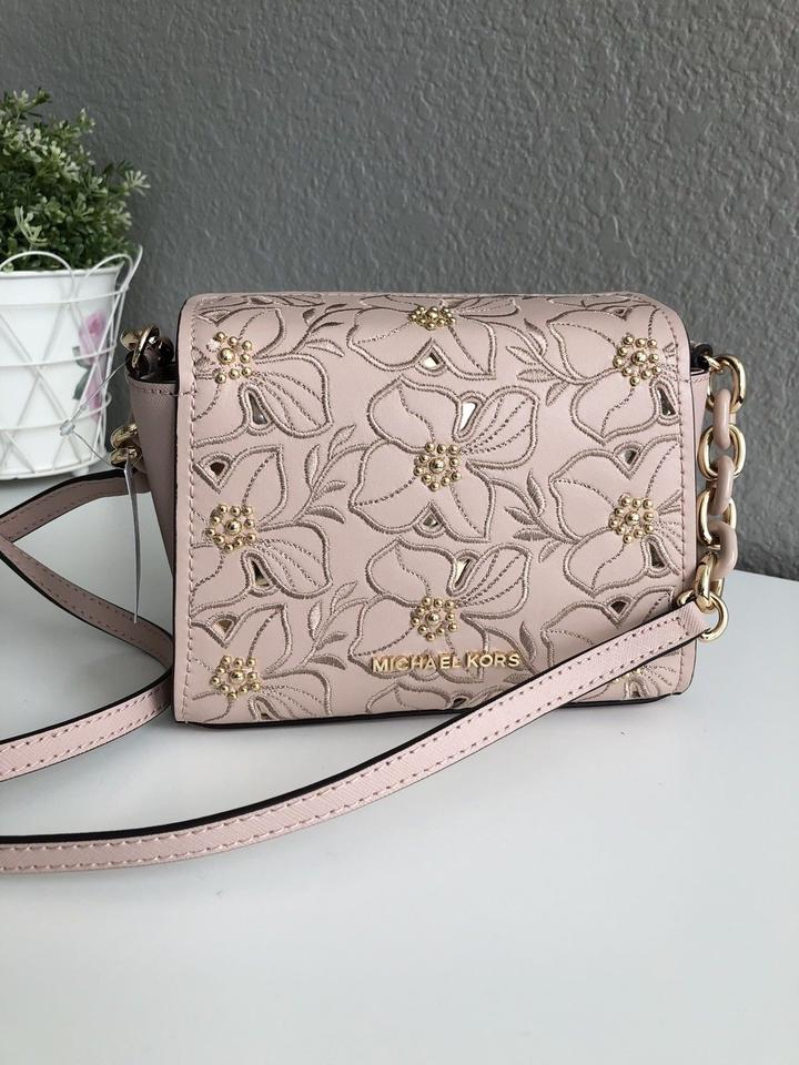 482c3c65ece67d Michael Kors Sofia Small Stud Floral Pink Leather Cross Body Bag ...