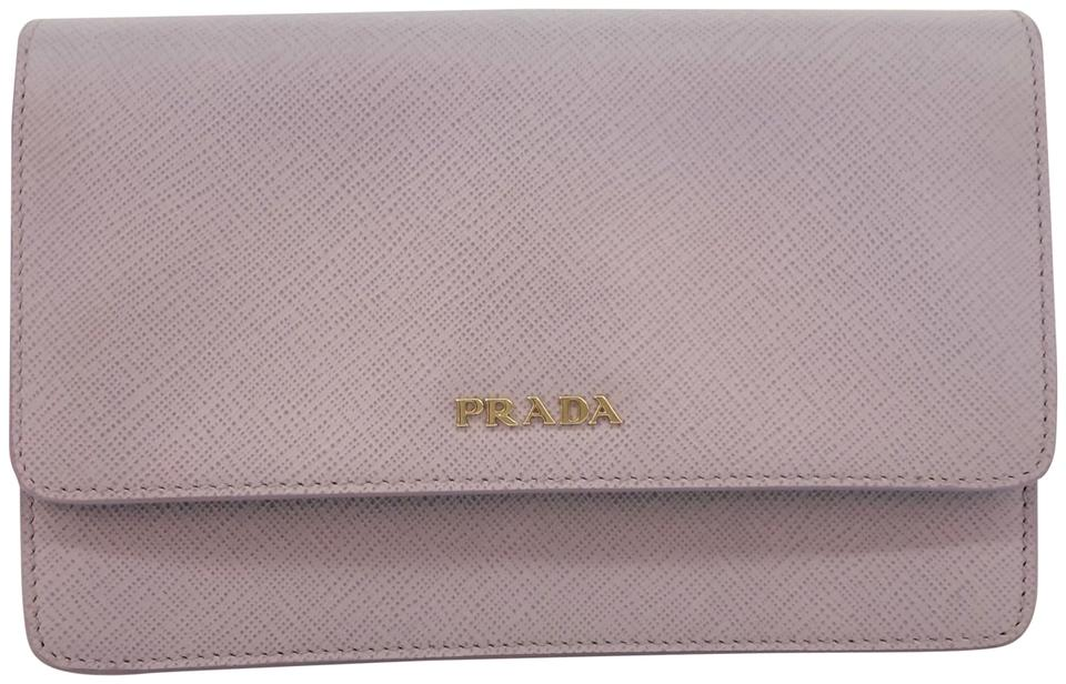ce6a10b1619b Prada Wallet on Chain Saffiano Purple Leather Cross Body Bag - Tradesy