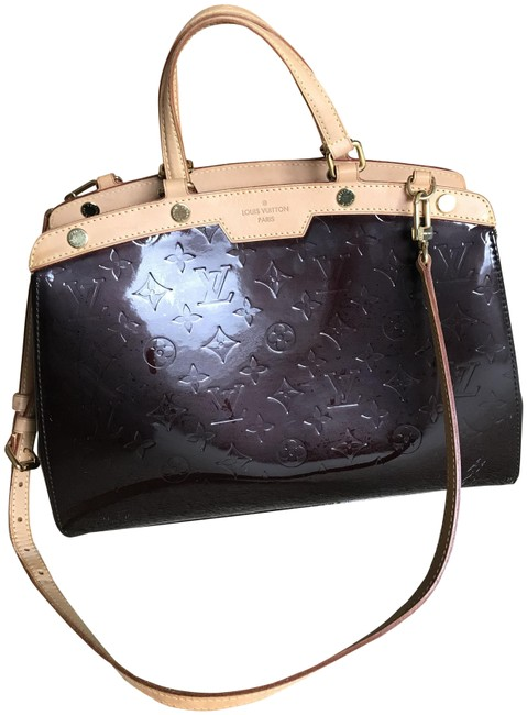 Louis Vuitton Brea Monogram Amarantee 2 Ways Handbag with Strap Purple Leather Cross Body Bag Louis Vuitton Brea Monogram Amarantee 2 Ways Handbag with Strap Purple Leather Cross Body Bag Image 1