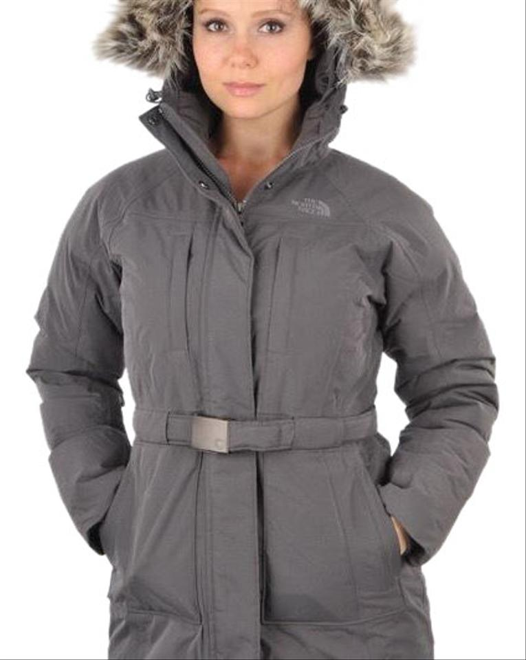 85a22fb352 The North Face Graphite Grey Brooklyn Down Jacket Coat Size 4 (S ...