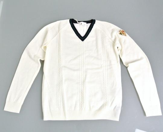 Gucci White Hysteria W Long Sleeve V-neck Wool Sweater W/Hysteria Crest 8 270699 Groomsman Gift Image 1
