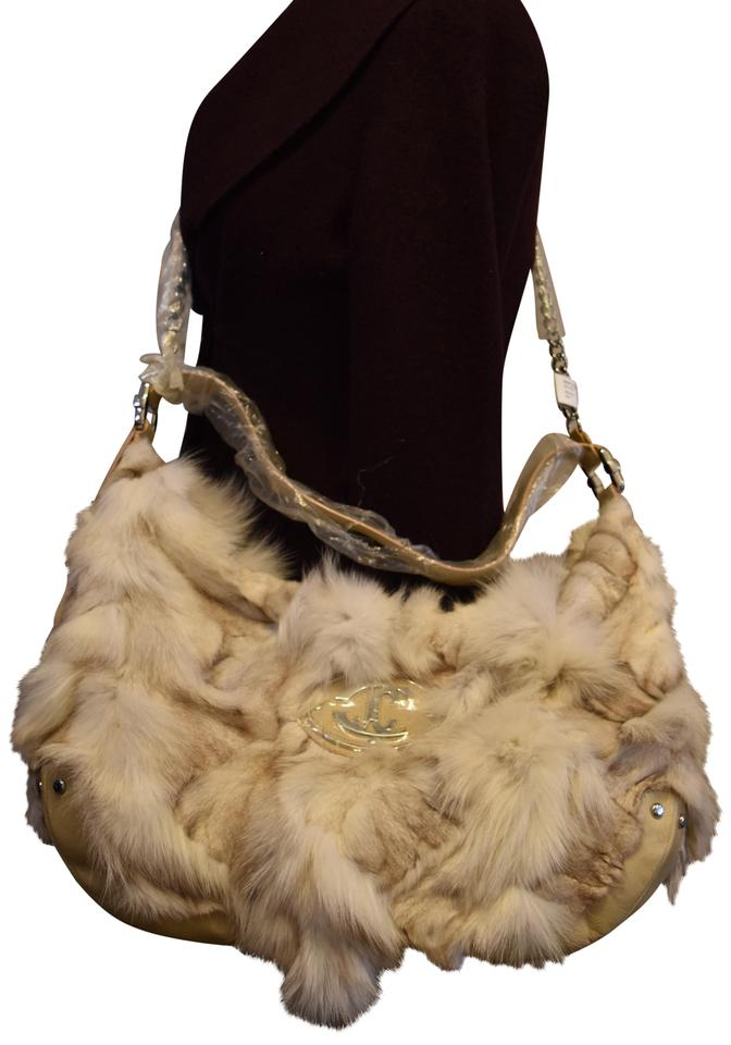 d2436547be Just Cavalli Fur Genuine Fur Luxury Leather Shoulder Bag Image 0 ...