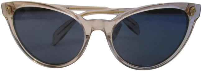 Item - Beige and Blue W Am0111s 005 Acetate W/ Lens Sunglasses