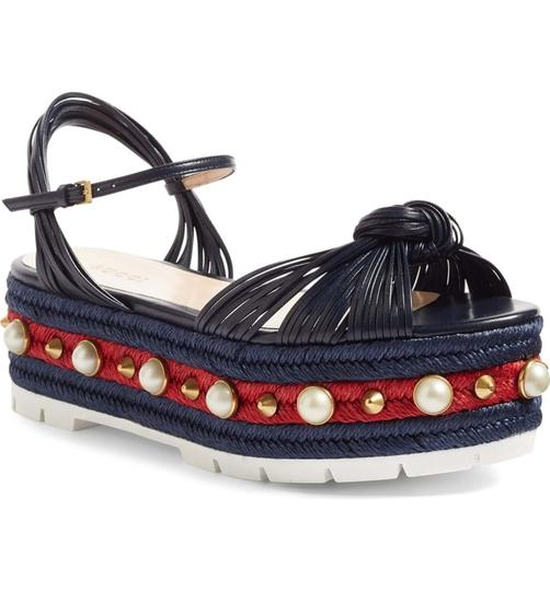 Gucci Navy Blue Sandals Image 1