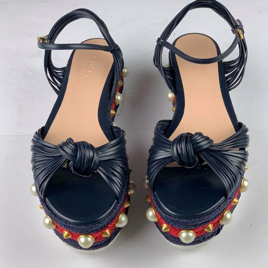 Gucci Navy Blue Sandals Image 10