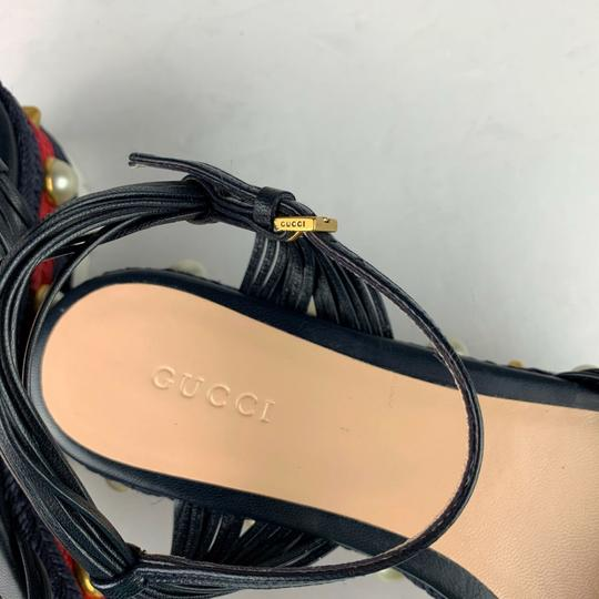 Gucci Navy Blue Sandals Image 3