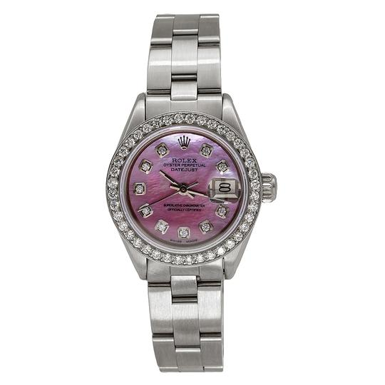 Preload https://img-static.tradesy.com/item/24942163/rolex-stainless-steel-with-pink-mop-dial-datejust-67193-26mm-mother-of-pearl-13ct-diamond-watch-0-0-540-540.jpg