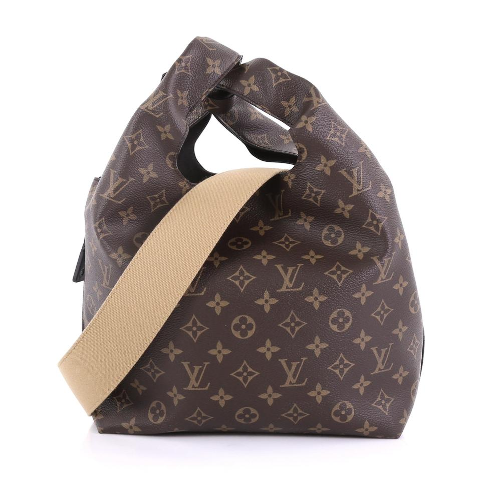 b33c72acbe14 Louis Vuitton Atlantis Handbag Monogram Pm Brown Canvas Satchel - Tradesy