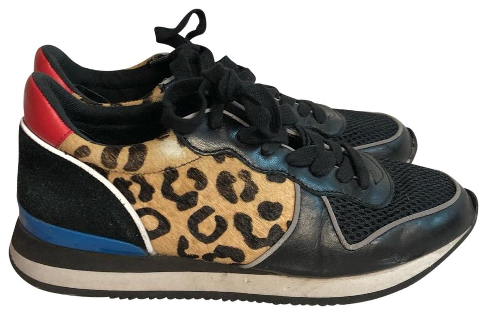 fdb2babc6bf Steve Madden Black Animal Print Lace Up Sneakers M Sneakers Size US ...