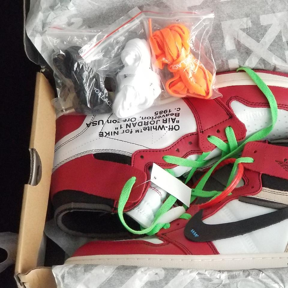 outlet store 90dd4 edf00 Off-White™ Red Black White The 10: Air Jordan 1 X Off-white Retro High Og  Chicago Sneakers Size US 11 Regular (M, B) 35% off retail