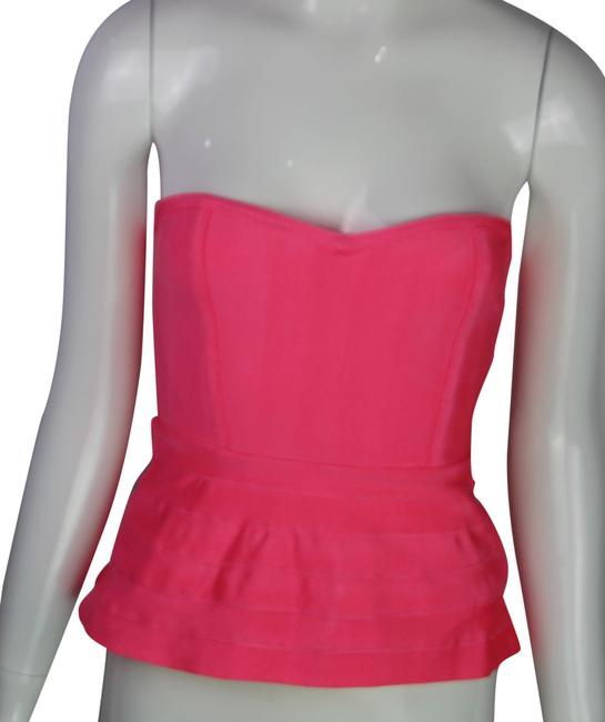 Preload https://img-static.tradesy.com/item/24942481/wow-couture-peplum-bandage-pink-top-0-1-650-650.jpg
