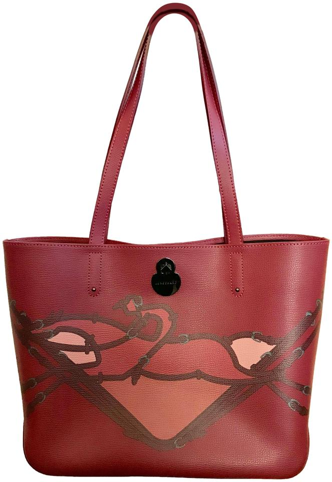 e4be322d817 Longchamp Shop It Dark Red Leather Tote - Tradesy