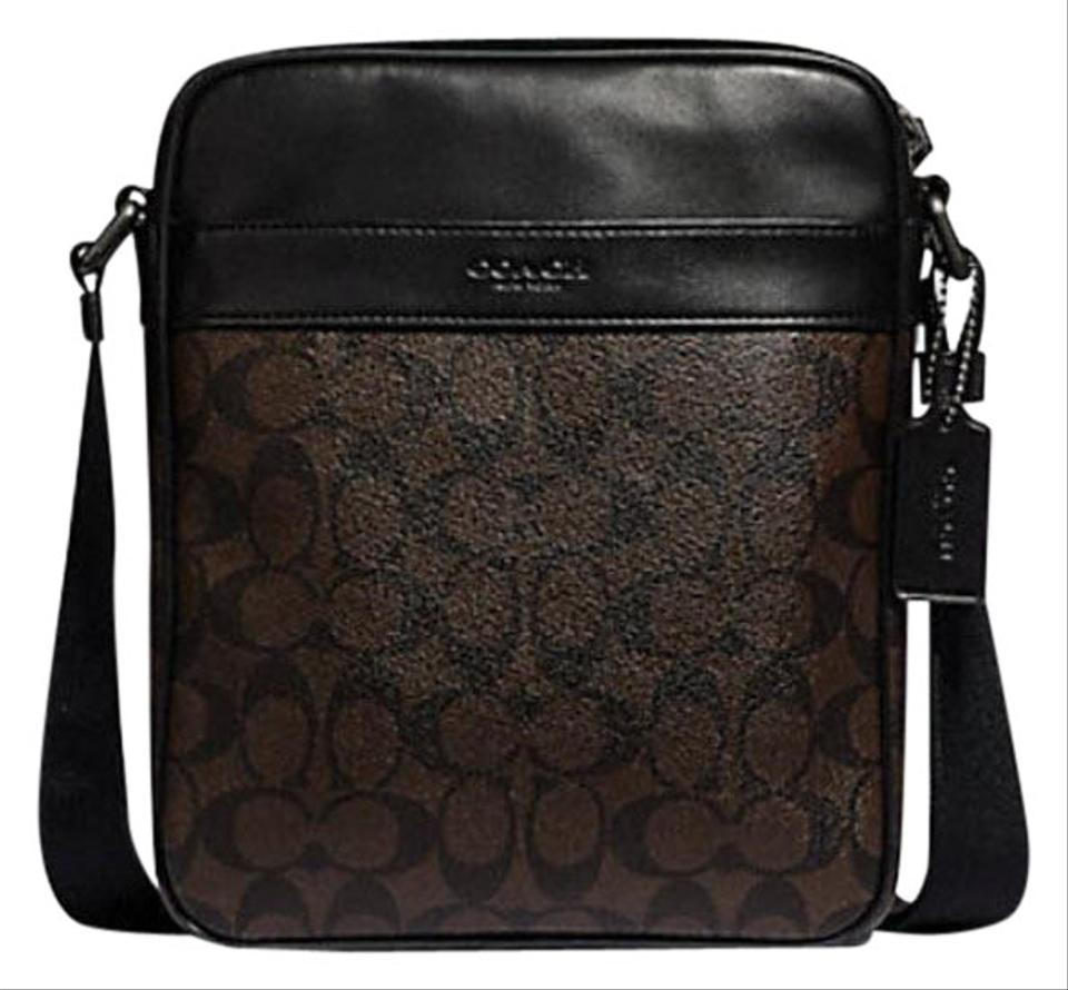 Coach Charles Flight In Signature F 54788 71764 Brown Coated Canvas ... 3bc55ca74b516