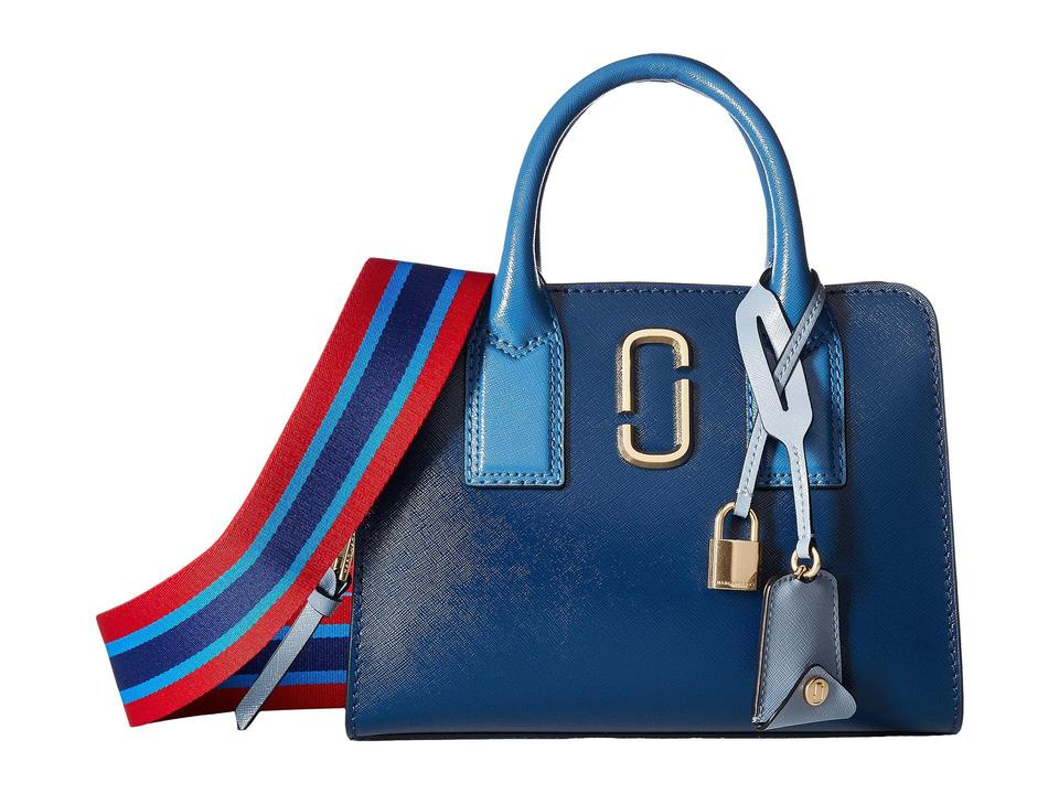 ac4dffa435c Marc Jacobs Little Big Shot Saffiano Leather Shoulder Tote/Satchel Satchel  in Blue Sea Multi ...