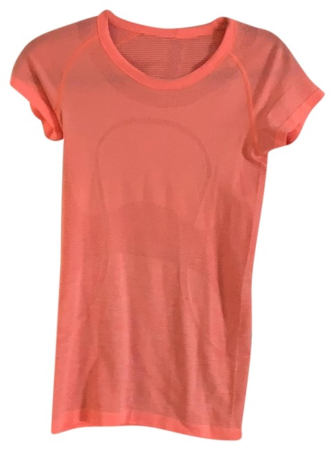 Item - Electric Peach Swiftly Sleeve Crew Activewear Top Size 4 (S)