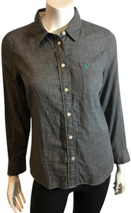 Jack Wills Roots Flannel Blouse Button Down Shirt grey