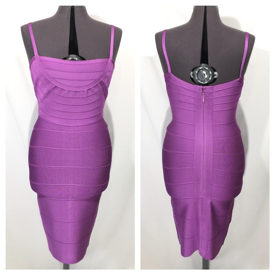 51a7f76ed17a9 Hervé Leger Violet Purple Ho16g976 - Bandage Mid-length Night Out ...