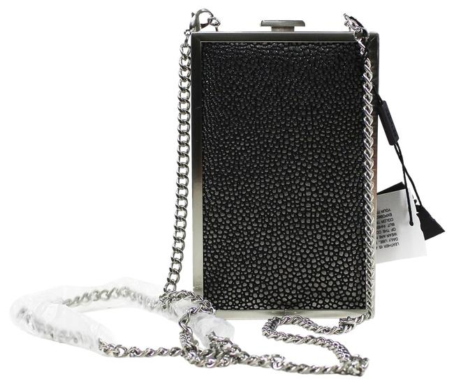 Halston Frame Minuadiere Silver Metal/Leather Clutch Halston Frame Minuadiere Silver Metal/Leather Clutch Image 1