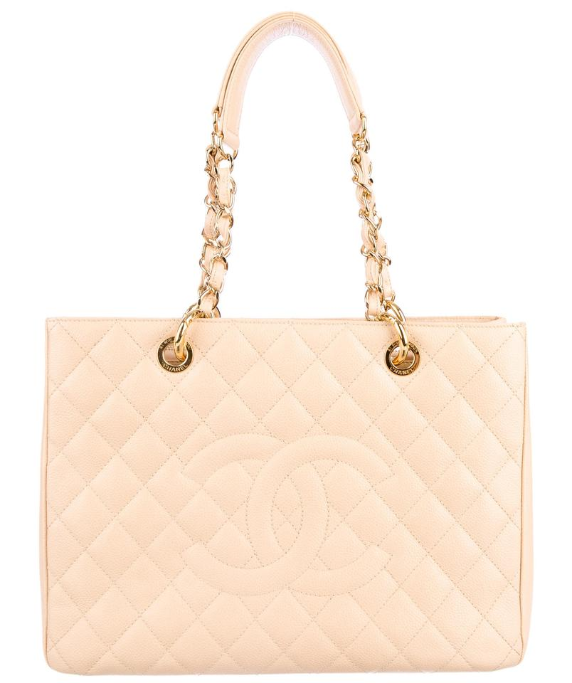 8304ef81ffcd Chanel Gst Shopper Grand Shopping Cc Logo Caviar Leather Tote in Beige Gold  Image 0 ...