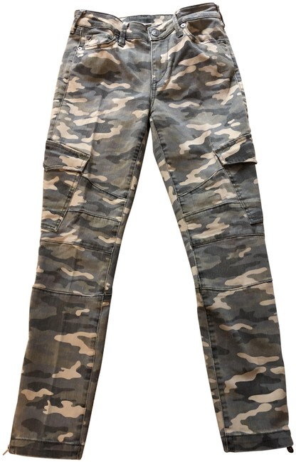 Item - Green Camo Acid Women's Halle Super Skinny Jeans Size 27 (4, S)