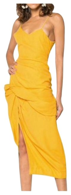 Preload https://img-static.tradesy.com/item/24943065/jacquemus-yellow-strappy-draped-skirt-style-long-night-out-dress-size-6-s-0-1-650-650.jpg