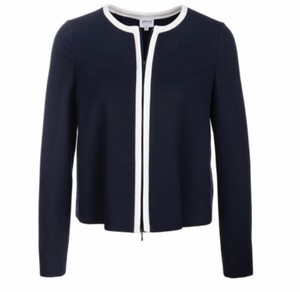 Armani Collezioni Navy Blue Blazer with a Zipper