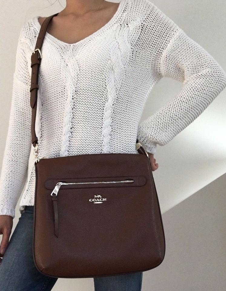 923623cad1d0e Coach Mae In Pebble Oxblood Leather Cross Body Bag - Tradesy