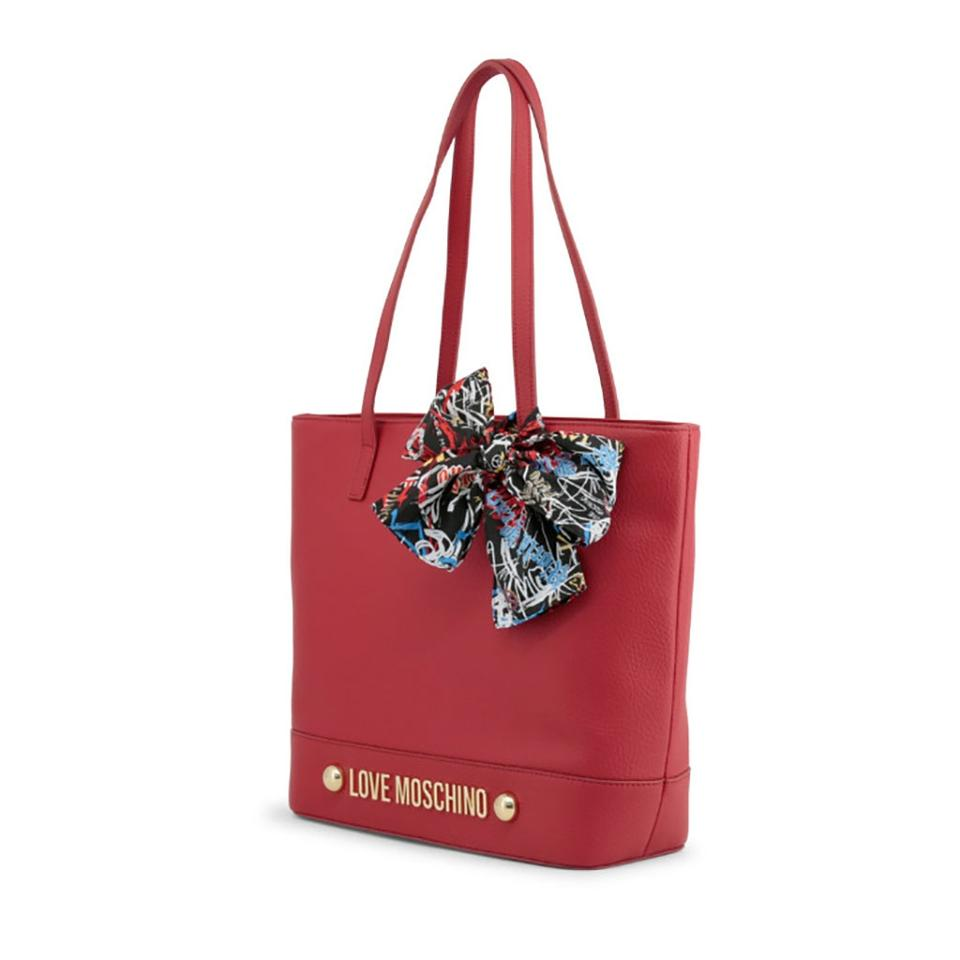 446213d470 Love Moschino Red Faux Leather Shoulder Bag - Tradesy