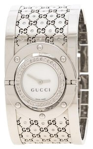 3c559d2de6c Added to Shopping Bag. Gucci White Diamond Stainless Steel Twirl Women s ...