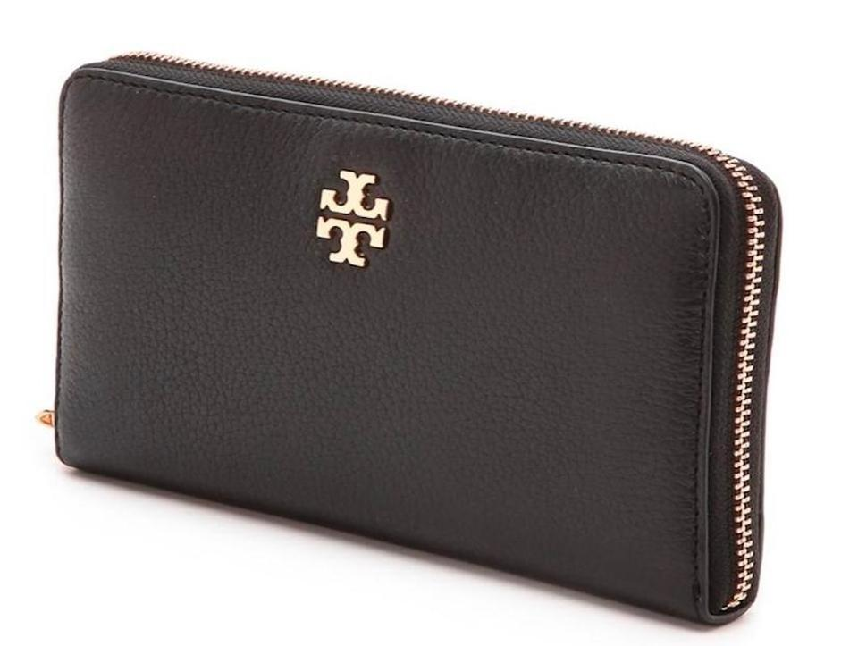 140c51cd2aa Tory Burch Black Mercer New with Tag Zip Continental Wallet - Tradesy