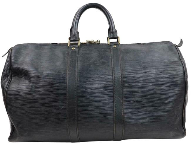 Louis Vuitton Keepall Duffle 45 Pm 870243 Black Leather Weekend/Travel Bag Louis Vuitton Keepall Duffle 45 Pm 870243 Black Leather Weekend/Travel Bag Image 1