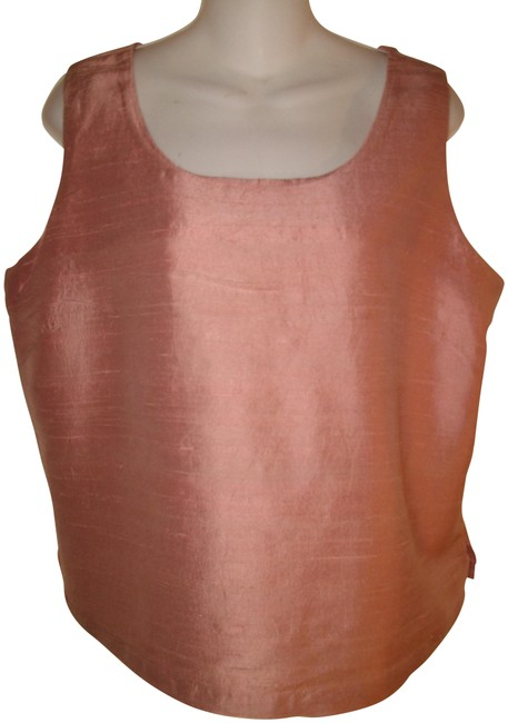 Chico's Rose Silk Sleeveless Tank Top/Cami Size 12 (L) Chico's Rose Silk Sleeveless Tank Top/Cami Size 12 (L) Image 1