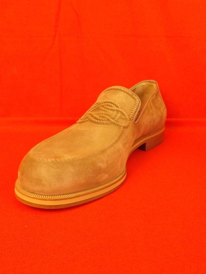 Christian Louboutin Beige Dirk Suede Leather Lined Knot Embossed Loafers 43 10 Shoes Image 7