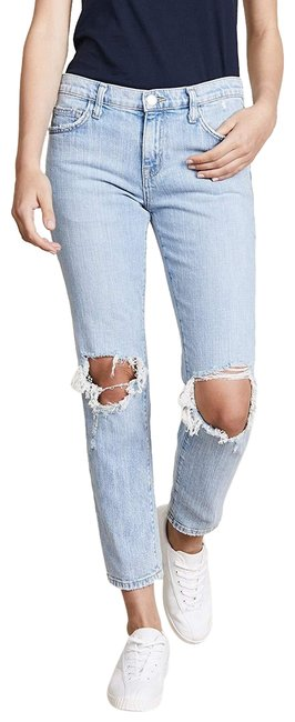Item - Blue Distressed The Fling Nova Destroy with High Cuff Relaxed Fit Jeans Size 30 (6, M)