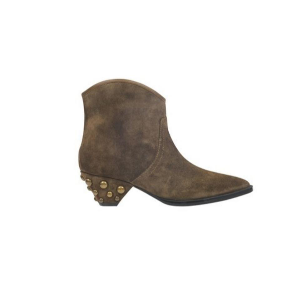 fa8382504118 Marc Fisher Taupe Khaki Brown Studded Suede Boots Booties Size US 8 ...