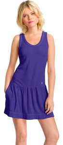 Juicy Couture short dress Blue Pockets Sporty Outdoor Cotton Modal on Tradesy