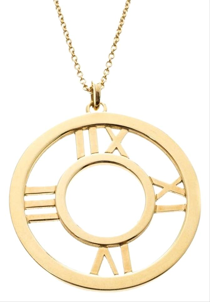702a18d00 Tiffany & Co. Atlas 18k Yellow Gold Round Pendant Necklace Image 0 ...
