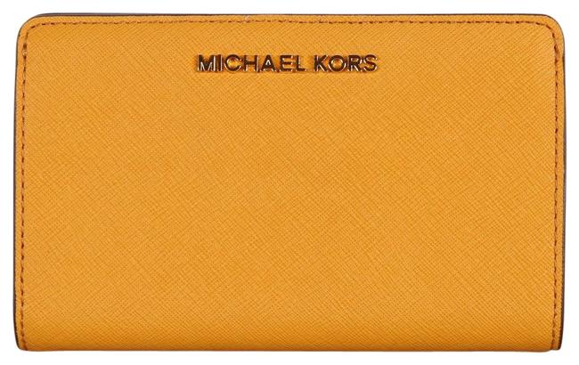 Item - Mirigold Yellow Jet Set Slim Bifold Leather Wallet