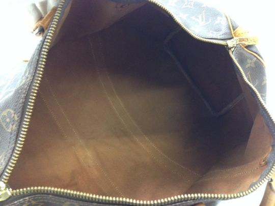 50c8c71ad Louis Vuitton Keepall 45 236l5206 Brown Tan Coated Canvas Weekend ...