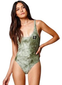 ae23e750b8 LA Hearts Tropical Green Pacsun Print Strappy Swimsuit One-piece ...