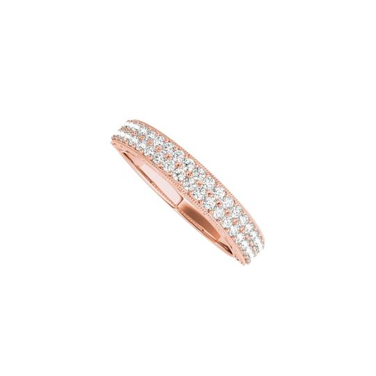 Preload https://img-static.tradesy.com/item/24944615/pink-milgrain-edged-cz-wedding-band-for-women-in-14k-gold-ring-0-0-540-540.jpg