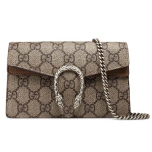 fd7971bbdfc Added to Shopping Bag. Gucci Cross Body Bag. Gucci Dionysus Gg Supreme  Super Mini Chain Shoulder Taupe ...
