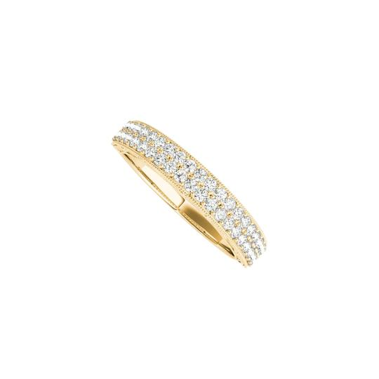 Preload https://img-static.tradesy.com/item/24944692/yellow-two-rows-cz-wedding-band-for-women-in-14k-gold-ring-0-0-540-540.jpg