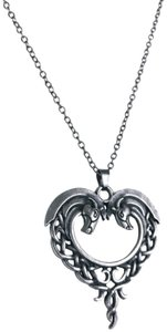 Other Celtic Horse Heart Pendant Necklace Hug Bow Knot Love Eternity Pewter