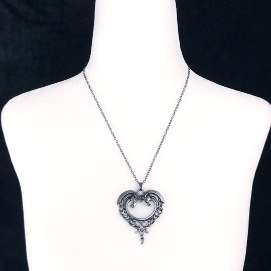 Other Celtic Horse Heart Pendant Necklace Hug Bow Knot Love Eternity Pewter Image 4