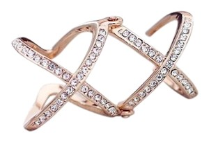 Other 2016 New Women Charming Crystals Gold/Silver Plated Alloy Cross Rings For Women - Plain X Ring Openings Midi Rings Knuckle Ring