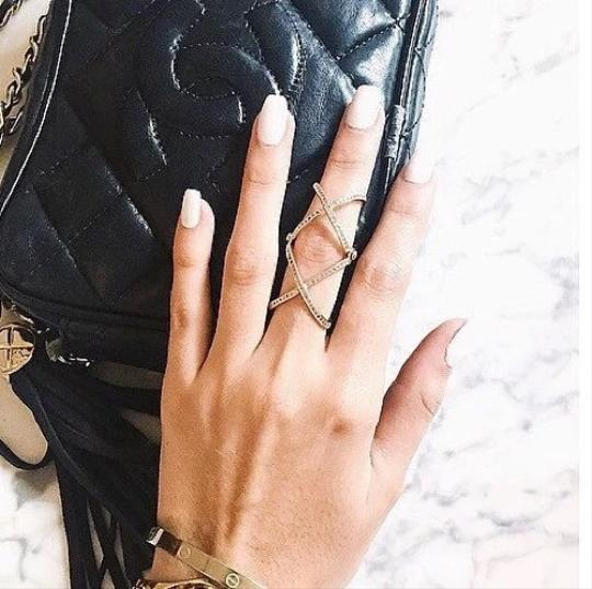 Other 2016 New Women Charming Crystals Gold/Silver Plated Alloy Cross Rings For Women - Plain X Ring Openings Midi Rings Knuckle Ring Image 5
