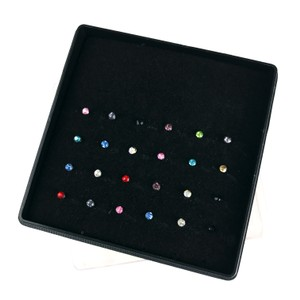 Other Lot of 24 Nose Studs Surgical Steel Multicolor Crystal