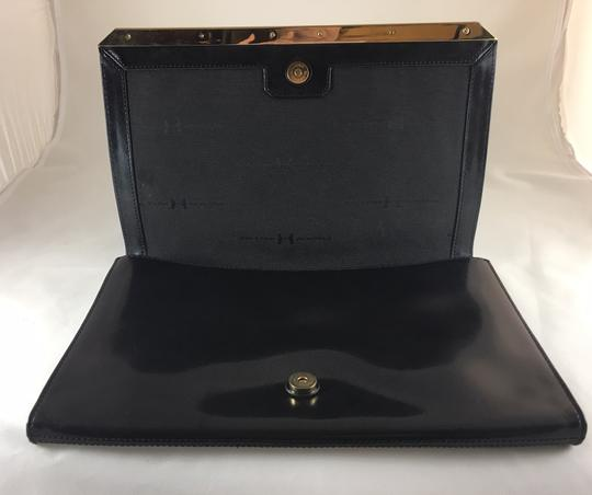 Halston Leather Convertible Clutch Cross Body Bag Image 3